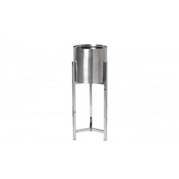Кашпо металлическое на подставке (хром) 13RXFP3105L-SILVER