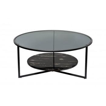 Стол журнальный круглый с темным стеклом 57EL-CT181A