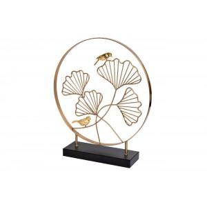 Статуэтка «Листья с 2мя золотыми птичками» 55RD3153