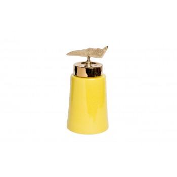 Ваза керамическая с крышкой желтая 55RD2920L