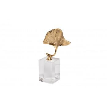 Статуэтка «Лист гинкго» на стеклянной подставке 55RD2117S