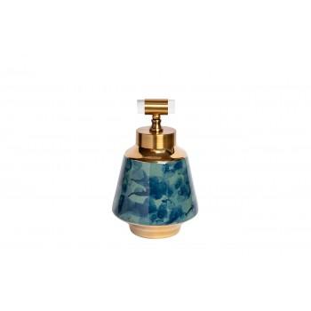 Ваза керамическая с крышкой сине-бирюзовая 55RD3121M
