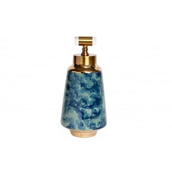 Ваза керамическая с крышкой сине-бирюзовая 55RD3121L