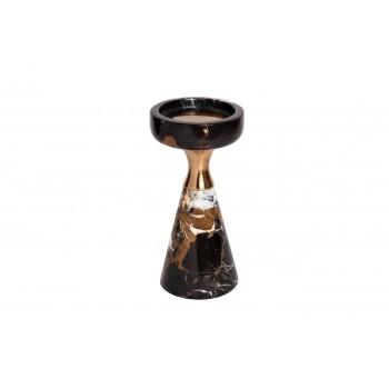 Подсвечник мраморный черно-коричневый 55RZ3451S