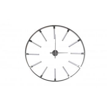 Часы настенные круглые серебристые 19-OA-6157SL