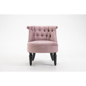 Кресло низкое дымчато-розовое велюровое 24YJ-8044B-06418