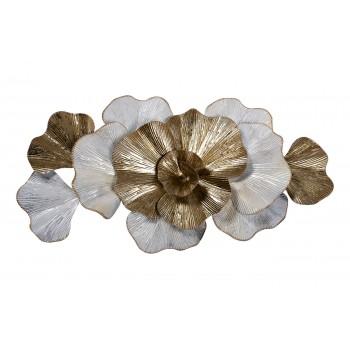 Декор настенный «Цветы» бело-золотой 37SM-0659