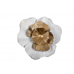 Декор настенный «Цветок» бело-золотой 37SM-0661