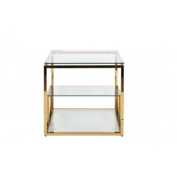 Столик журнальный со стеклянной столешницей (цвет золото) GY-ET8005GOLD