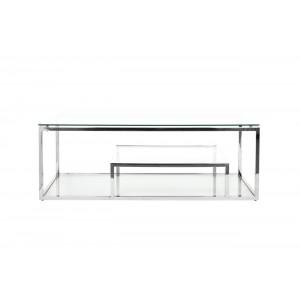 Стол журнальный со стеклянной столешницей (цвет хром) GY-CT8005