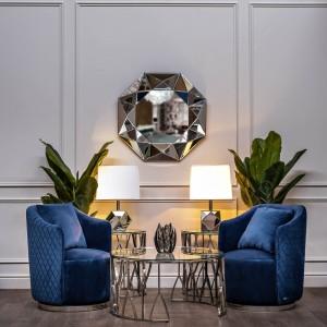 Кресло вращающееся темно-синее велюровое 48MY-2573 DBL