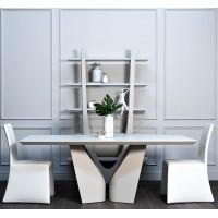 Стол обеденный Quadro белый 58DB-DT15873