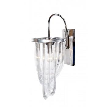 Бра стеклянное (хром) K2KR0116W-1A