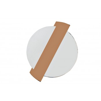 Зеркало круглое со вставкой из тонированного зеркала 19-OA-6248