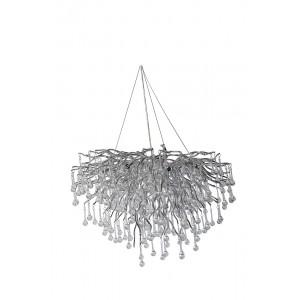 Люстра подвесная «Капли» (серебро) 62GDA-8012-800