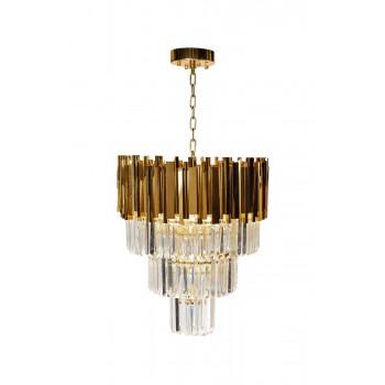 Люстра с кристаллами (золото) 62GDM-81008-540