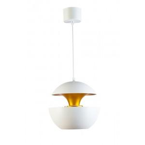 Светильник подвесной металлический белый с золотом 60GD-9064S-W