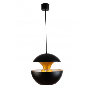 Светильник подвесной металлический черный с золотом 60GD-9064L-BL