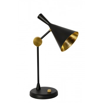 Лампа настольная металлическая черная 60GD-2711T-BL
