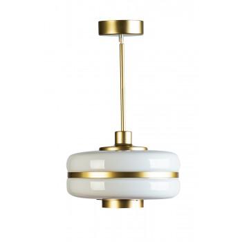 Светильник подвесной из белого стекла 60GD-9258P/S