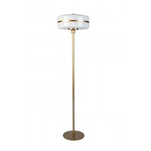 Торшер металлический с белым стеклом 60GD-9258F
