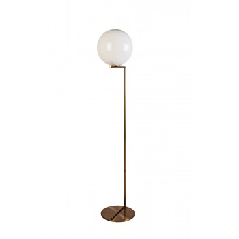 Торшер «Шар» (белое стекло) 60GD-9137F/L
