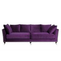 Диван Sorrento трехместный велюровый фиолетовый SORRENTO2K-ФИОЛ-Ром98