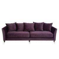 Диван Sorrento трехместный велюровый фиолетовый SORRENTO2K-ФИОЛ-Bel14