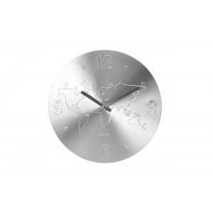 Часы настенные «Карта мира» (цвет серебро) YP7165030