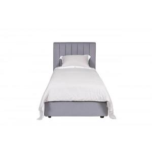 Кровать Andrea односпальная велюровая серо-голубая GD-ANDREA90-1
