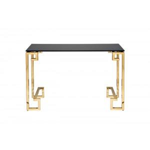 Консоль с черным стеклом 13RXC3049-GOLD