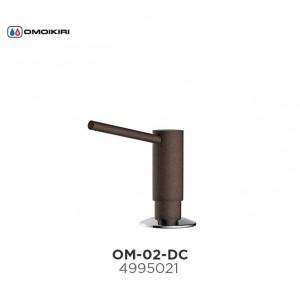 Дозатор для моющего средства ОМ-02-DC латунь/темный шоколад 4995021