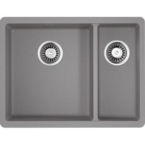 Кухонная мойка ленинградский серый Artgranit Omoikiri Kata 55-2-U-GR