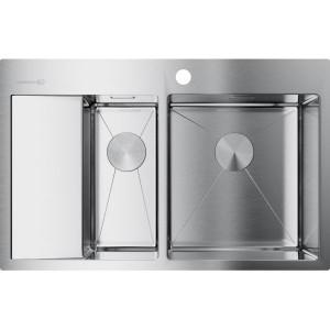 Кухонная мойка нержавеющая сталь Omoikiri Akisame 78-2-IN-R