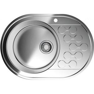 Кухонная мойка нержавеющая сталь Omoikiri Kasumigaura 65-1-L