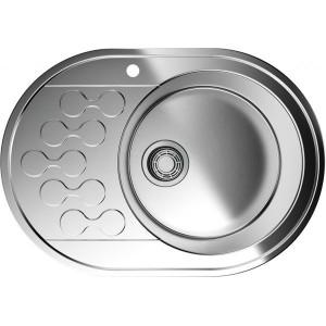Кухонная мойка нержавеющая сталь Omoikiri Kasumigaura 65-1-R