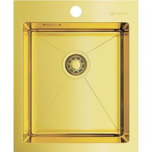 Кухонная мойка светлое золото Omoikiri Akisame 41-LG