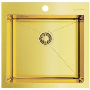 Кухонная мойка светлое золото Omoikiri Akisame 51-LG