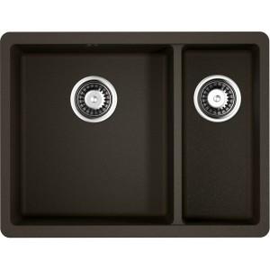 Кухонная мойка темный шоколад Artgranit Omoikiri Kata 55-2-U-DC