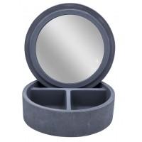 Шкатулка с зеркалом Cement серый 2240707