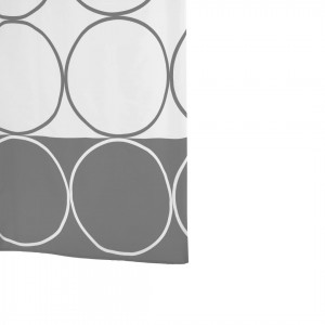 Штора для ванных комнат Circle серый/серебряный 180*200 46387