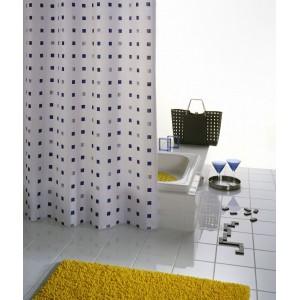 Штора для ванных комнат Dоminо синий/голубой 180*200 41313