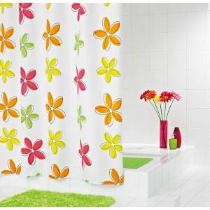 Штора для ванных комнат Fleur оранжевый 180*200 47350