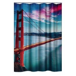 Штора для ванных комнат Golden Gate Bridge цветной 180*200 42123000
