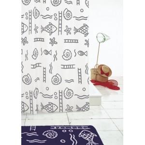 Штора для ванных комнат Neptun серый/серебряный 240*180 46417