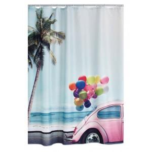Штора для ванных комнат Palms and Balloons цветной 180*200 42173000