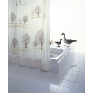 Штора для ванных комнат Park бежевый/коричневый 180*200 47838