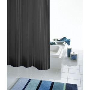 Штора для ванных комнат Satin черный 180*200 47850