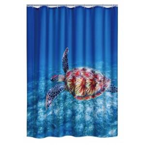 Штора для ванных комнат Sea World синий/цветной 180*200 42183000