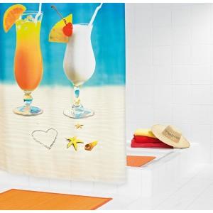 Штора для ванных комнат Sex on the beach цветной 180*200 48310